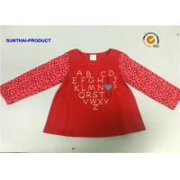Buy cheap Pin Dot AOP Children Contrast Long Sleeve T Shirt With Glitter Screen Print from wholesalers