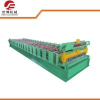 Twin Rib Cold Roll Forming Machines , Galvanized Steel Roll Forming Machine