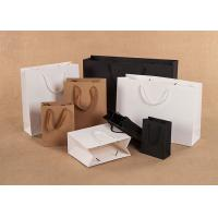 Buy cheap Kraft Paper Shopping Bags Solid Color Printing Scratch Resistance from wholesalers