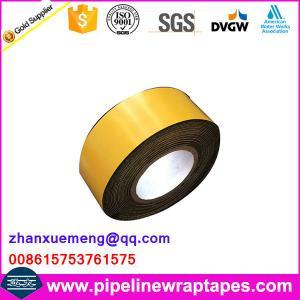 Buy cheap Self-Adhesive Waterproofing Bitumen Butyl Anti-corrosion Tape product