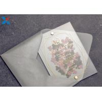 China Romantic Acrylic Gifts Size Customized Acrylic Wedding Card OEM / ODM Available on sale