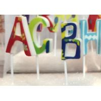 Buy cheap Colorful 26 Pcs Alphabet Letter Birthday Candles Food Grade Wonderful Printing from wholesalers
