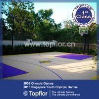 Buy cheap Sports Interlock Plastic Floor For Outdoor Basketball Court from wholesalers