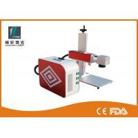 Fiber Laser Marking Equipment , Plastic Laser Marking Machine With Rotary Device