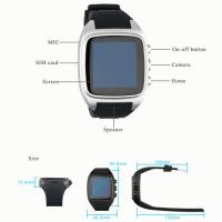 Buy cheap Smart watch phone Touch screen android 4.4 Dual core 512M+4G, 3G, 5.0MP Camera, Wifi from wholesalers