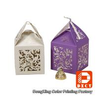 Buy cheap Laser Cut Delicate Custom Printed Packaging Boxes , Purple Small Wedding Favor Boxes from wholesalers