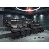 Buy cheap Black 4D Cinema Equipment Chair Play 3D Films , 4D seats With Sweep Leg And Push Back Effect product