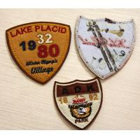 Buy cheap PU Leather Embroidered Custom Sew On Patches RPET Fabric Plain Back. from wholesalers