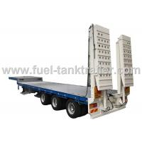 Buy cheap Long Item Heavy Duty Gooseneck Trailer Numerical Control , Heavy Equipment Flatbed Trailers  Extendable from wholesalers