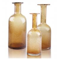 Buy cheap Amber Interior Decorative Glass Bottles with Handmade and Innovative Design from wholesalers