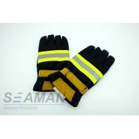 Buy cheap Fire Retardant Aramid Fiber Leather Fireman Protective Gloves Fire Fighting Equipments from wholesalers