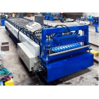 Buy cheap Steel Corrugated Roof Panel Roll Forming Machine 16 / 18 Steps CE Approval from wholesalers