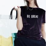 Buy cheap 2019 New Arrival Summer Velvet Clothing T Shirt For Women from wholesalers