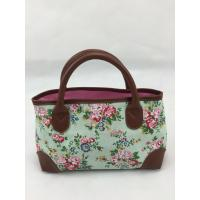 Buy cheap Small Lady Washable Grocery Reusable Tote Shopping Bags With Flowers Printed product