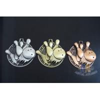 Buy cheap Metal Zinc Alloy Custom Bowling Sports School Engraved Medals With 2D Or 3D Type, Lanyard Or Ribbon from wholesalers