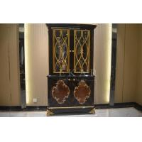Buy cheap Living Room Antique Wood Furniture Glass Cabinet 2 Doors Golden Color TP-025B from wholesalers