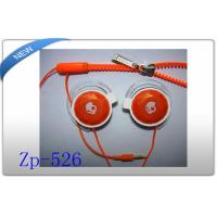 Buy cheap Fancy looking Orange zipper earphone with answer button and mic product