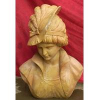 Buy cheap Lady Marble bust statue from wholesalers