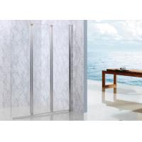 Buy cheap Bi - Folding Shower Walk In Enclosures Straight Style Three Clear Glass Screen from wholesalers