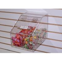 Buy cheap 6mm Candy Acrylic Display Case Clear Plexiglass Storage with Lids product