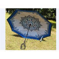 Beautiful Convenient Reverse Folding Umbrella Double Canopy Kazbrella Umbrella