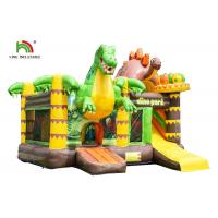 Buy cheap Customized Size Dinosaurs Inflatable Bounce House / Toddler Bouncy Castle With Slide from wholesalers