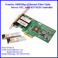 Buy cheap 1000Mbps Dual Port SFP Slot PCI Express x4 Server Network Adapter (Intel 82576 Chipset) from wholesalers