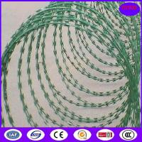 Buy cheap Concertina Barbed Tapes ,Epoxy -white color Razor wire from wholesalers