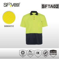 Buy cheap Custom button closure hi vis apparel with collar , chest with an pocket product