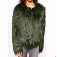 Buy cheap Wholesale high quality comfortable polyester cheap bulk plain winter faux short fur jackets for women from wholesalers