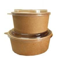 Buy cheap Wholesale Diaposable 32 oz Kraft Compostable Paper Salad/ Hot Food Bowl with  Lids from wholesalers