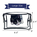 Buy cheap Waterproof Cat Print PVC Cosmetic Bag For Girls from wholesalers