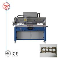 Buy cheap Blue Flatbed Screen Printing Machine / Semi Automatic Screen Printing Press For Head Gasket from wholesalers
