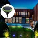 Buy cheap External 8 Leds Solar Ground Lights / Garden Lawn Yard Solar Powered Sensor Security Light from wholesalers