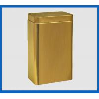 Buy cheap pretty gold printing tools tin box,rectangle tea tin container from wholesalers