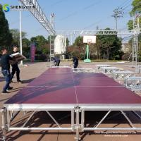 Buy cheap festival mini laser decoration used lighting banquet quick scaffolding aluminum folding platform stage for sale from wholesalers