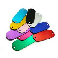 Buy cheap Colored Anodized Custom Engraved Dog Tags Runway Shape With Two Holes from wholesalers