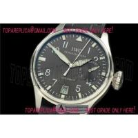 Buy cheap Replica IWC Big Pilot 5002 IW500402 SS/Leather Grey Asia 25J Watches from wholesalers