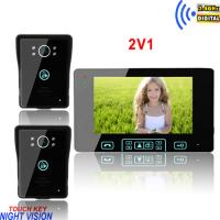 Buy cheap 2.4GHz digital 7 inch TFT color wireless video door phone intercom system from wholesalers