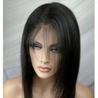 Buy cheap Hand Tied Remy Human Hair Full Lace Human Hair Wigs 1B# / 5A Virgin Remy Hair from wholesalers