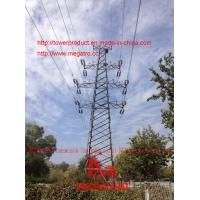Buy cheap 110KV Transmission line double circuit JGU2 drum type Tension tower from megatro company from wholesalers