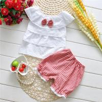 Buy cheap New Arrival Pink Ruffled Girls Clothing Set Cotton Child Clothes from wholesalers