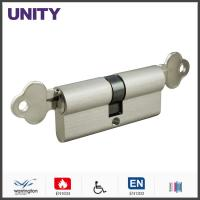 Buy cheap Emergency Function Door Lock Cylinder Stain Chrome Double Key Brass Material product
