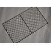 Buy cheap 304 Stainless Steel Crimped Mesh Barbecue Grills Panels / Trays from wholesalers