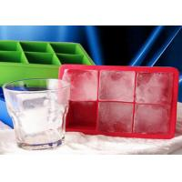 Buy cheap DIY 6 Cavities Big Square Silicone Ice Cube Trays Safe To Use from wholesalers