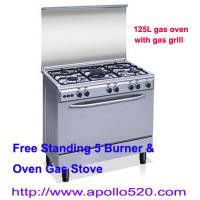 Buy cheap Free Standing 5 Burner & Oven Gas Stove from wholesalers