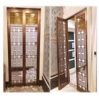 Buy cheap hotel indoor stainless steel screen room divider metal door partition made in china from wholesalers