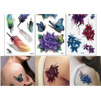 Buy cheap Body Art Temporary Tattoo Sticker Girl Decoration Butterfly Fake Tattoo from wholesalers