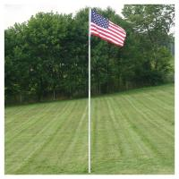 Buy cheap portable 22FT telescopic fiberglass RV flag pole / windsock pole from wholesalers