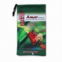Buy cheap Microfiber Cleaning Pouch, Suitable for Advertisement, Premiums and Promotional Purposes from wholesalers